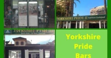 Yorkshire Pride Bars in Benidorm